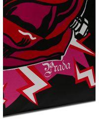 Sac porté épaule à fleur Prada en coloris Red