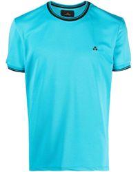 メンズ Peuterey コントラストカラー Tシャツ Blue