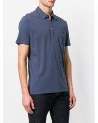 Officine Generale - Blue Pocket Polo Shirt for Men - Lyst