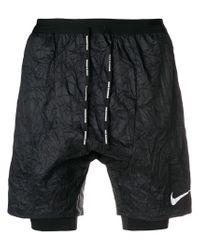 Nike Laufshorts mit Knitteroptik in Black für Herren