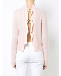 10 Crosby Derek Lam - Pink Long Sleeve Sweater With Back Ring Detail - Lyst
