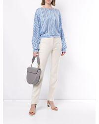 Blusa a righe di Nina Ricci in Blue