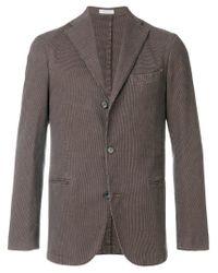 Boglioli | Brown Houndstooth Pattern Blazer for Men | Lyst