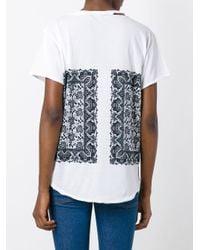 Alexander McQueen White Paisley Print T-shirt