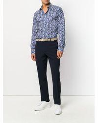 Paul Smith - Blue Cherry Blossom Shirt for Men - Lyst