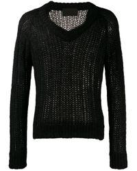 メンズ Prada オープンニット セーター Black