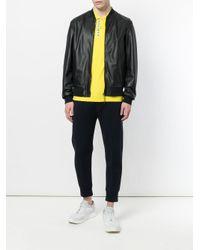 Dirk Bikkembergs Black Zipped Bomber Jacket for men