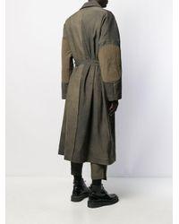 Ziggy Chen Brown Distressed-effect Trench Coat for men