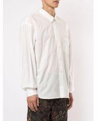メンズ Doublet オーバーサイズ シャツ White