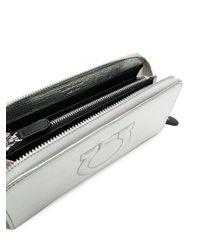 Ferragamo - Metallic Gancini Zip Around Wallet - Lyst