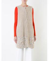 Coohem | Natural Fancy Fur Knit Vest | Lyst