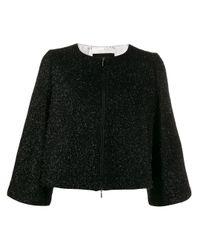 Veste crop zippée Emporio Armani en coloris Black