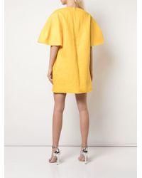 Carolina Herrera ワイドスリーブ シフトドレス Yellow