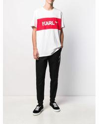 T-shirt à logo imprimé PUMA pour homme en coloris White