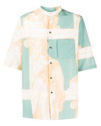 Рубашка С Принтом Ferragamo для него, цвет: Green