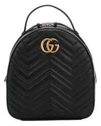 fbe0831f5a21 Lyst - Gucci Gg Marmont Quilted Backpack in Black