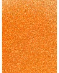Kiton Orange Printed Tie for men