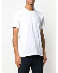 メンズ COMME DES GARÇONS PLAY ベーシック Tシャツ White