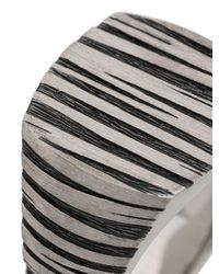 Tom Wood - Metallic 'Cushion Structure' Ring for Men - Lyst
