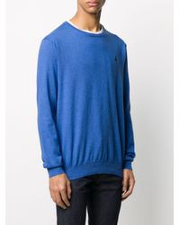 Polo Ralph Lauren Blue Logo Embroidered Sweatshirt for men