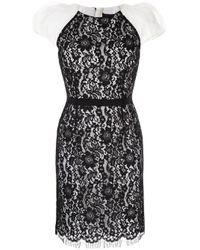 Paule Ka Black Kleid mit Spitze