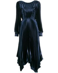 Vestido Venezia plisado Sandro de color Blue