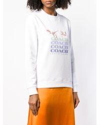 Sudadera Rexy and Carriage COACH de color White