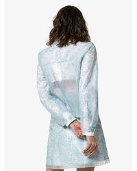 Veste imprimée à effet de transparence Paskal en coloris Blue