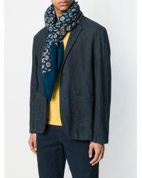 Écharpe imprimée Altea pour homme en coloris Blue