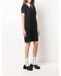 Vestito con colletto a contrasto di N°21 in Black