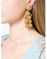 Sachin & Babi - Metallic Embellished Drop Earrings - Lyst