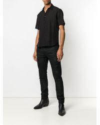メンズ Saint Laurent シアーパネル シャツ Black