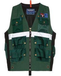 メンズ Polo Ralph Lauren マルチポケット ベスト Green