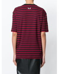 McQ Alexander McQueen Red Striped Swallow Patch T-shirt for men