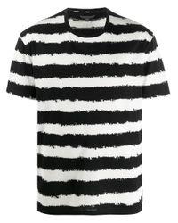 メンズ John Varvatos ストライプ Tシャツ Black