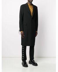 メンズ Versace レースディテール コート Black