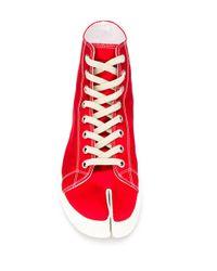 Zapatillas altas Tabi Maison Margiela de hombre de color Red