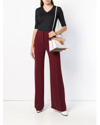 L'Autre Chose High-waisted Flared Trousers