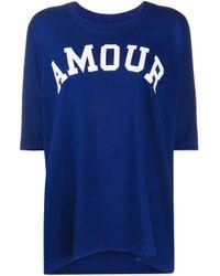 T-shirt imprimé Amour Zadig & Voltaire en coloris Blue