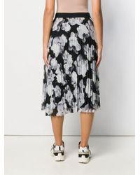 Юбка Мидт С Цветочным Принтом Karl Lagerfeld, цвет: Gray