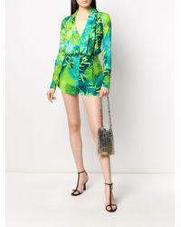 Шорты С Принтом Versace, цвет: Green