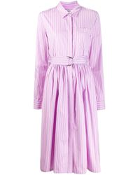 MSGM ベルテッド シャツドレス Purple