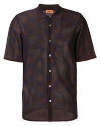 メンズ Missoni バイカラーシャツ Black