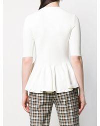 Stella McCartney White Pleated Hem Knitted Top