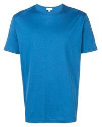 T-shirt classique Sunspel pour homme en coloris Blue