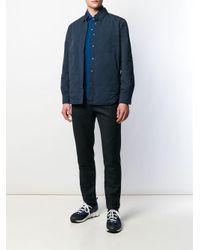 メンズ Aspesi ロングスリーブ ポロシャツ Blue