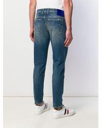 メンズ Jacob Cohen ペイズリー Tシャツ Blue