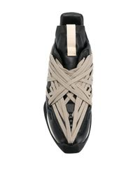 Rick Owens Sneakers mit Schnürung in Weboptik in Black für Herren