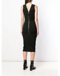 Rick Owens V-neck Tube Dress Black