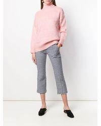 Jersey de punto con cuello alto N°21 de color Pink